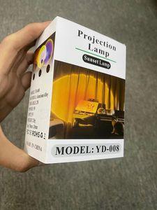 الجو العارض ضوء YD-008 الغروب مصباح غرفة نوم ديكور rainbow USB شحن الحديثة الحديثة