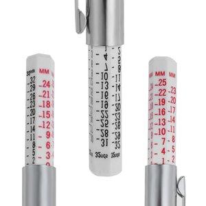 2021 25mm Car Motor Bike Tyre Tread Depth Gauge Metric Standard Measures Tester