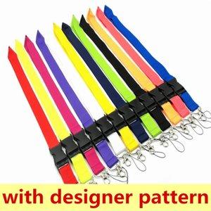 Мода роскошных дизайнерских ключей цепи телефонные ремни шеи печать идентификационные карты повесить веревку пряжки запястья
