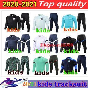 2021 national team kids soccer tracksuit France survetement 20 21 Argentina Algeria Italy boys football jacket sportswear training suit Jogging