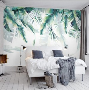 Custom Photo Mural Wallpaper Tropical Rain Forest Palm Banana Leaves Wall Painting Bedroom Living Room Sofa Background Wallpapers