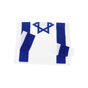 Bandera nacional de Israel para Decoración Minorista Direct Fábrica al por mayor 3x5fts 90x150cm Poliéster Banner Uso al aire libre interior 1244 V2