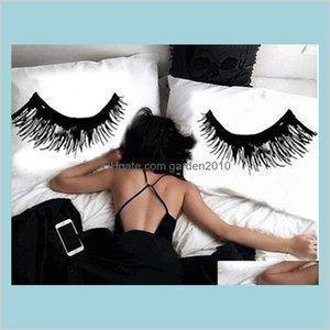 """Pillow Case Bedding Supplies Home Textiles & Garden 50 *76Cm Novelty Eyelash Cover Set Funny Sleeping Couple Eyes Lashes Sets 20X30 """"F"""