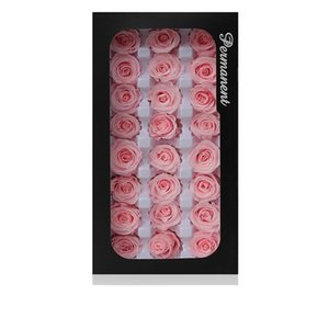 2-3 см / 21 шт., Класс консервированный Остин Роза Цветочная головка, Вечные розы Цветы для украшения свадьбы, День события Подарочная коробка Преимущества1 1272 V2