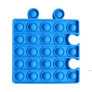 Multicolor Pop It Fidget Sensory Toys Relieve stress autism in children and adults,Can be combined its Bubble Board Games HWA4789