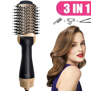 Hot Air Brush 3 In 1 One Step Hair Dryer and Volumizer Hair Straightener Electric Blow Dryer Hot Comb Hair Styler Hairdryer