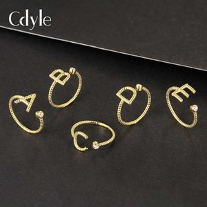 Sidale's New S925 Silver Ring Is Simple and Fashionable, the Crystal Letter Popular Among Women
