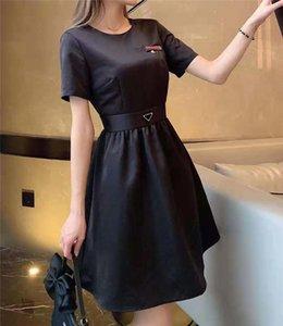 Kadınlar için elbise gömlek bahar yaz dış giyim rahat tarzı ile tomurcuk mektup lady ince elbiseler kemer pileli etek düğmesi fermuar büstü üstleri