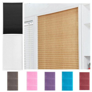 Blinds Self-adhesive Pleated Half Blackout Windows Curtains Bathroom Balcony Shades For Home Window Door