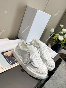 Dior ID shoes 2021 Италия Роскошные дизайн обувь Обувь носок белый повседневная обувь Womens All-Matched кожаная толстого здоровая ретро лоскутное удовольствие id кроссовки размеро
