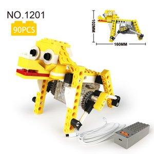 Kök Mekanik Tasarım Prensibi 3D Hayvan Model Serisi Elektrikli Köpek Oyuncakları Çocuk Eğitim DIY Oyuncaklar Uyumlu Büyük Markalar