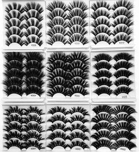 quality 25mm Mink Hair False Eyelashes Criss-cross Thick 8D Eye Lashes Extension Handmade Eye Makeup Tools 5Pair Pack