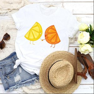 Women Womens T Shirts Graphic Fruit Beach Lemon Orange Funny Cute 90s Lady Tees Print Tops Clothing Female Shirt