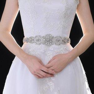 Sashes de mariage Trixy S433 Courroie strass mariée robe de mariée pour les accessoires pour femmes de taille maigre diamant
