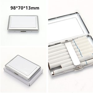 Sublimation Metal Cigarette Cases 98*70*13mm Single Sides Thermal Transfer Smoking Accessories DIY Blanks Cigarette Box Fast Shipping A12