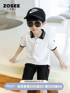 Zuoxi clothing boys' Summer Short Sleeve T-Shirt children's Polo Shirt Boys' summer fashion 2021 NEW