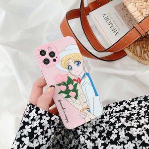 Rose Rose Fair Maiden Patch Cajas de teléfono de color botón de color Paquete completo para iPhone 12 11 Pro Promax X XS MAX 7 8 Plus