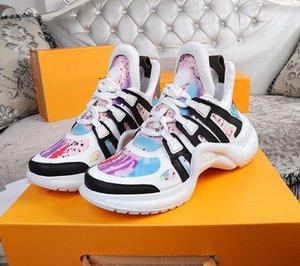 2021 أزياء عارضة الأذرجة جلد طبيعي أبي حذاء أحذية أحذية شبكة سوداء تنفس الانحناء منصة stylis 35-45 mmttkj001