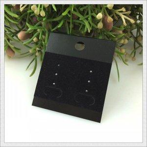 New Fashion! Wholesale 100pcs lot Black Plastic+Velvet Earrings Card 5x4.5cm Custom Jewelry Earring Packaging Display Cards