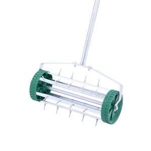Садовый скарификатор газонокосилка барабанная машина стальная рука Push Mail Machine ручной ролик с ручкой железо