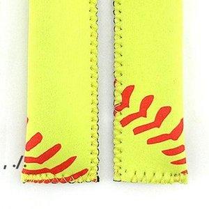 Popsicle Holder Neoprene Sport Pop Bag Rectangle Popsicle Mould Sleeves Holder Lily Baseball Rugby Ice Cream Cover LLD11101