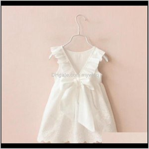 Baby Baby, Kids & Maternity Drop Delivery 2021 Girls Solid White Big Bow Princess Dresses For Vestido Dress Infant Girl Clothes Summer Childr