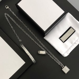 Pendant Necklace Retro Classic Fashion Bracelet Necklaces Rings Suit Man Woman Unisex Chain Bracelets Ring Jewelry box need extra cost
