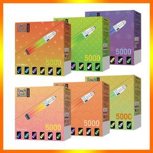 Authentic 100% E-Cigarettes Randm Dazzle 5000 Puffs Disposable Pod Device With Rgb Light 6 Colors 10ml Rechargeable
