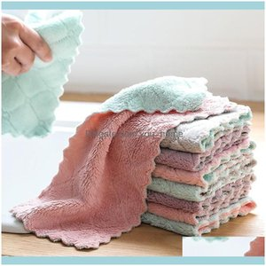 Household Cleaning Tools Housekeeping Organization & Gardencleaning Cloths Hut 8Pcs Lot Home Microfiber Towels For Kitchen Absorbent Thicker