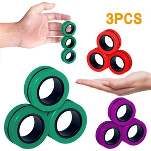 3pc Fidget Toys Magnetic Bracelet Ring Unzip Toy Magic Ring Props Tools Decompression Fidget Toy Magnet Rings