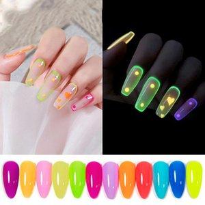 Гель для ногтей Флуоресцентная польская конфета цвет светящиеся клея гламурная мода искусства украшения маникюр аксессуары