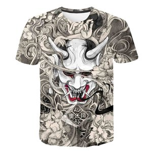 2020 New Skull Print T Shirt men 3d Japanese tattoo T-Shirt Trendy Short Sleeve Top Men Female harajuku Summer Top camisas L0324