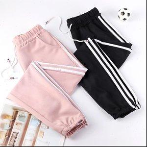 Harem Pants Women Capri Plus Size Pink Black Running Summer Harajuku Casual Side Lines Sweatpants Sports Fitness