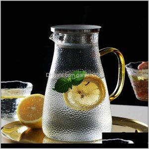 Bottles Jar Juice Lemonade Jug Flower Tea Pot Cold Water Heatproof Transparent Glass Teapot 201111 Gpscn 6Opd2