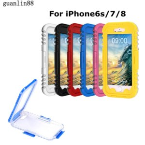 Waterproof Cases Universal for iPhone 7 8 Heavy Duty Case Water-Proof Diving Water Proof Cover 6 Colors