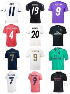 16 17 18 19 20 20 Real Madrid Jersey Jersey Retro 2021 Zidane Jerseys Benzema Sergio Ramos Kroos Hazard Camisa de futebol Maillot