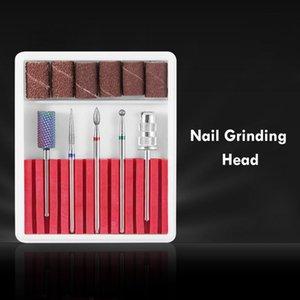 Nail Art Equipment 5pcs Dead Skin Grinding Head Set Drill Bits Flat Sander Manicure Tools Pedicure Kit