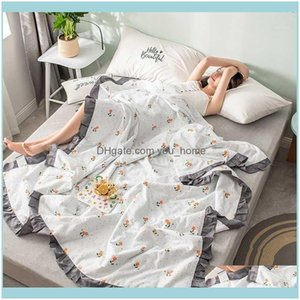 Comforters Sets Bedding Supplies Textiles & Gardenlightweight Thin Home Summer Soft Breathable Air-Conditioning Quilt Multipurpose Adult Chi