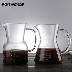 800ml Lead-free Glass Coffee Pots High Temperature Resistant Heatable Teapots Large Capacity Cold Kettle with Coffee Percolators 210408