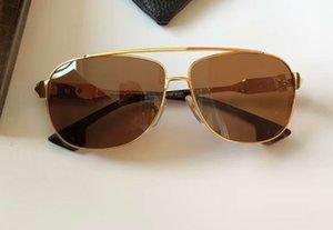 Классические пилотные солнцезащитные очки Золота Браун затененные 62 мм Мода Солнцезащитные очки для мужчин УФ-защита Очки с коробкой
