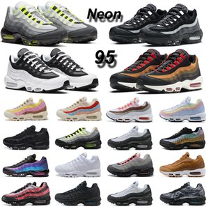 max 95 Neon 95 95s zapatillas para correr What The chaussures OG Neon Triple Black White Laser Fuchsia hombres mujeres zapatillas deportivas al aire libre 36-46