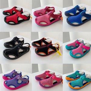 Hot-2021 Croc Fashion Beach Sandals Casual Flat Flip-Flops Boys and Girls Hollow Shoes