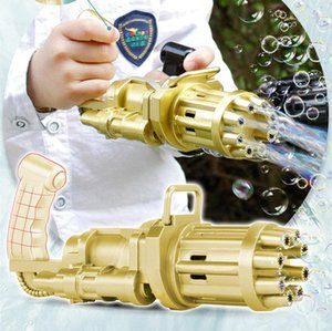 Kids Gatling Bubble Gun The battery Toys Summer Automatic Soap Water Machine For Children Toddlers Indoor Outdoor Wedding