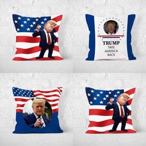 TRUMP PILLOW CASE Donald Trump for President 2024 Cushion Cover 45*45CM Linen Pillowcases American President Slogan Rude Republican Party Sofa Car Decor G78UM3C