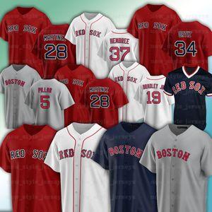 28 JD Martinez 5 Enrique Boston Hernandez 34 David Ortiz Red 9 Ted Williams Benintendi Alex Verdugo Jackie Bradley JR Sox Baseball Jerseys
