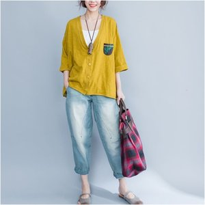 sweaters Summer style of arts women batwing loosely cotton cardigan back from the animated cartoons printed with cleavage v casual