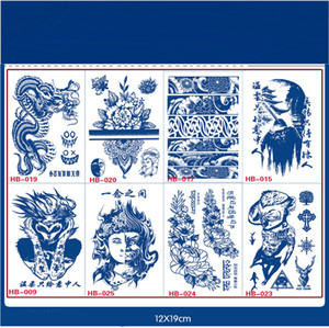 Juice Lasting Waterproof Temporary Tattoo Sticker Buddhism Sanskrit Lotus Totem Flash Tatoo Scorpion Body Art Fake Tatto
