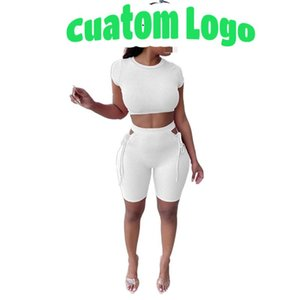 Women's Tracksuits 2021 Custom Bandage Solid Hollow Out 2 Piece Sets Womans Summer Sexy Woman Short Set Outfits