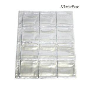10Pages Lot 12Units Page Coin Album 60*60MM PVC Collection Book Collection Coin Holders Protection Album 210330
