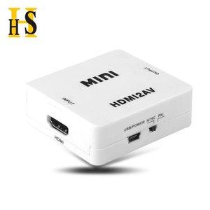 AV RCA CVBS to HDMI compatible converter 1080P video MINI AV2HDMI adapter for HDTV projector set-top box